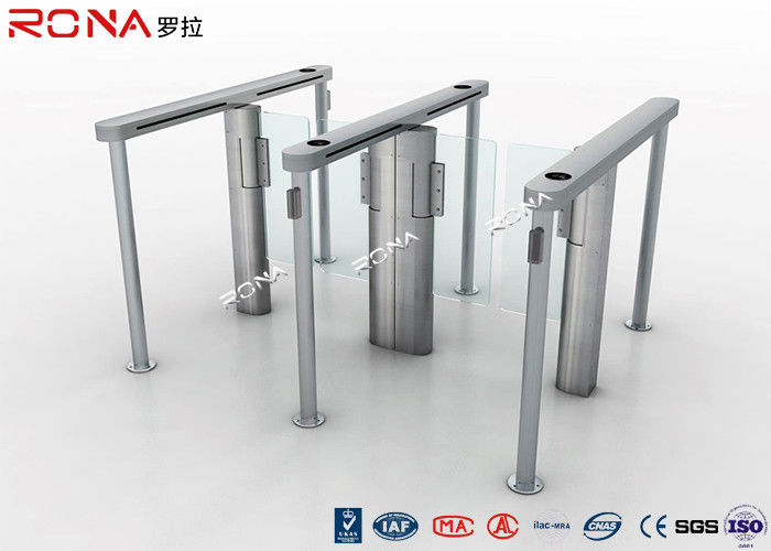 Pedestrain Control Fingerprint Automatic Swing Gates Turnstile Flexible Extendibility