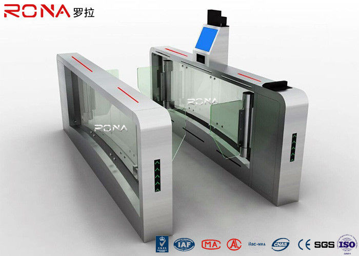 High Speed Facial Recognition Turnstile Customizable Double Barrier Swing Gate